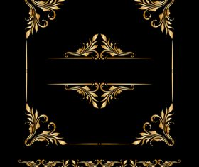Ornament element frame design vector