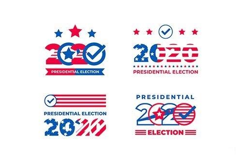 Pack 2020 Presidential Election USA Logos