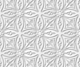 Paper floral 3Dpattern vector