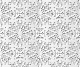 Paper flower pattern white vector