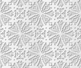 Paper flower pattern white vector
