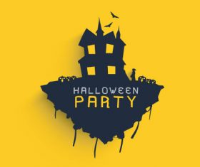 Party halloween silhouette vector