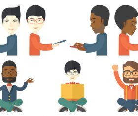 People communicating cartoon vector