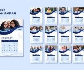 People cover 2021 calendar vector