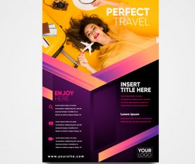 Perfect travel flyer vector