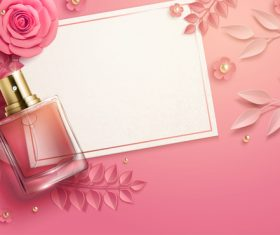 Perfume advertising 3d illustrations vector