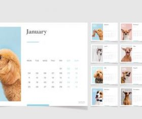 Pet cover 2021 calendar vector