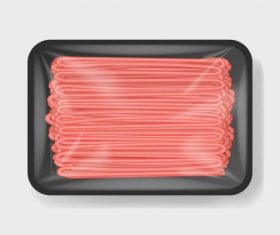 Plastic container for food vector