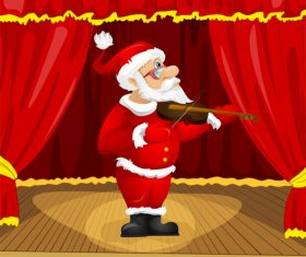 Play the violin santa claus vector