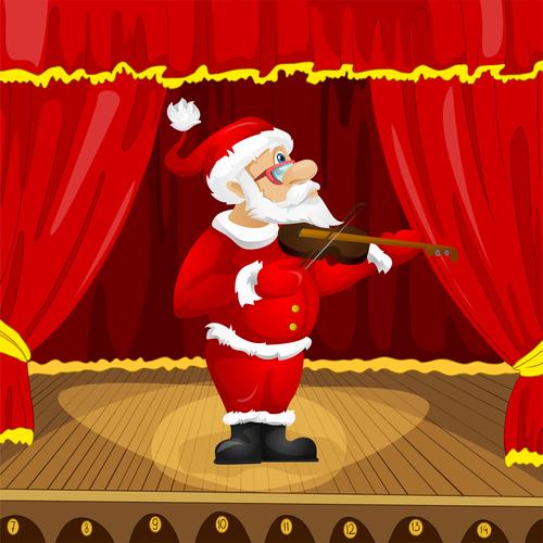Play the violin santa claus vector
