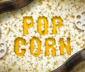 Popcorn advertising vector