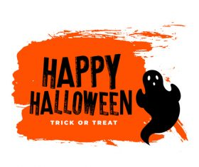 Poster happy halloween vector