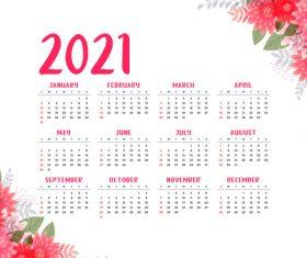 Practical 2021 calendar vector