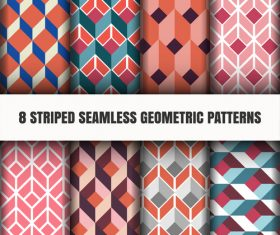 Pretty lattice geometric seamless pattern vector