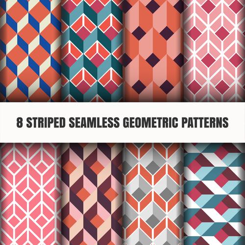 Pretty lattice geometric seamless pattern vector