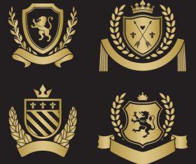Pretty silhouette heraldry vector
