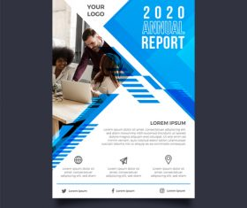 Project development business brochure template vector
