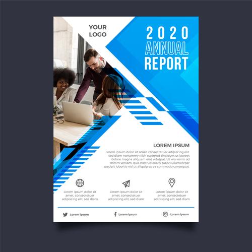 Project development business brochure template vector