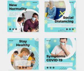 Public health flyer vector