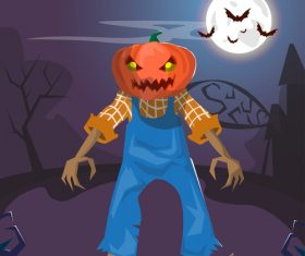 Pumpkin people vector