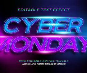 Purple and blue font text effect in vector