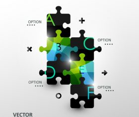 Puzzle abstract infographics vector