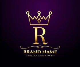 R company logo vector