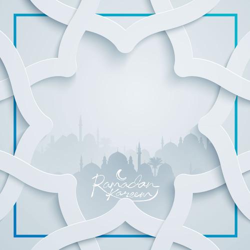 Ramadan Kareem greeting background islamic vector design