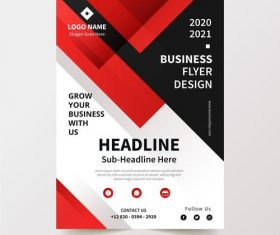 Red and black stripes background business flyer design vector