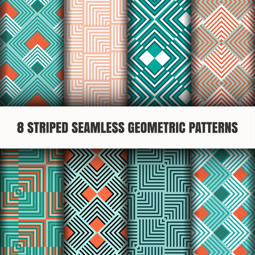 Rhombus four colors seamless pattern vector