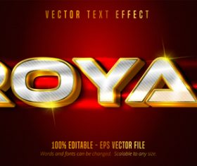 Royal editable font effect text vector
