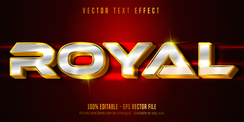 Royal editable font effect text vector