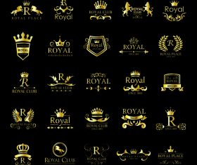 Royal golden logo vector