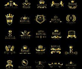 Royal golden logo vector