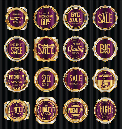 Sales labels collection vector