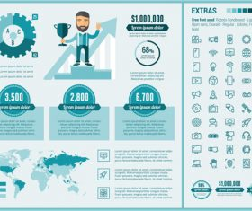 Sales performance infographic vector