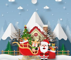 Santa Claus happy laughing vector