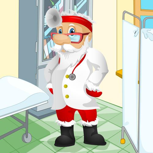 Santa claus doctor vector