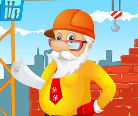 Santa claus engineer vector