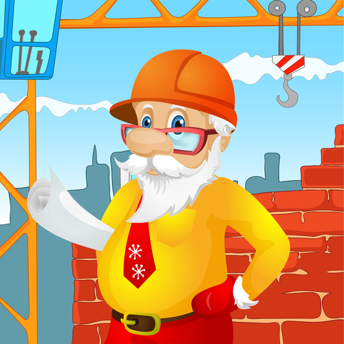 Santa claus engineer vector