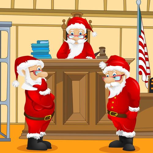 Santa claus vector in court