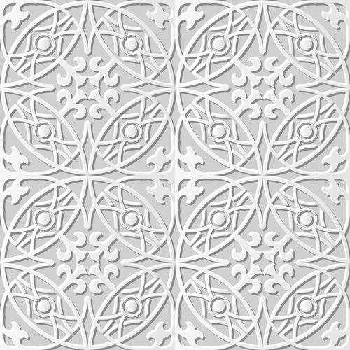 Seamless paper floral pattern vector