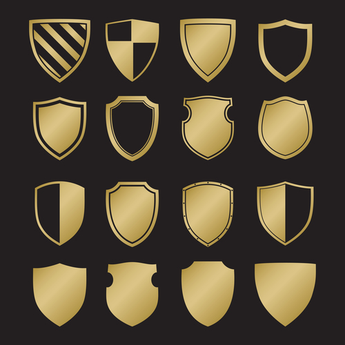Shield heraldry vector
