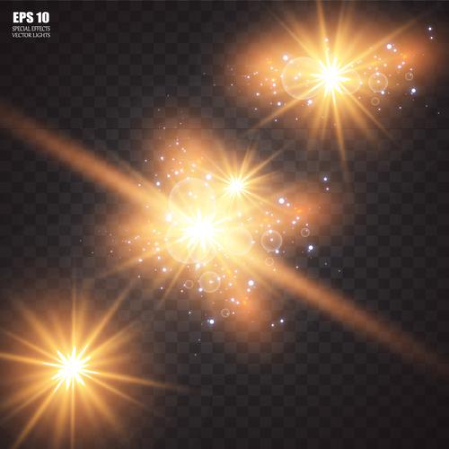 Shiny light vector