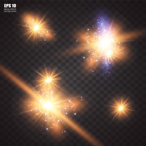 Shiny particles vector