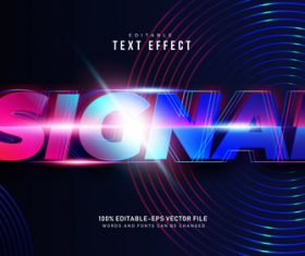 Sicnal font text effect in vector