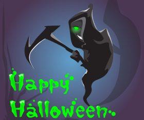 Smiling Grim Reaper Vector