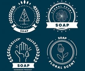 Soap Label Collection vector