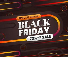 Special offer black friday flyer vector