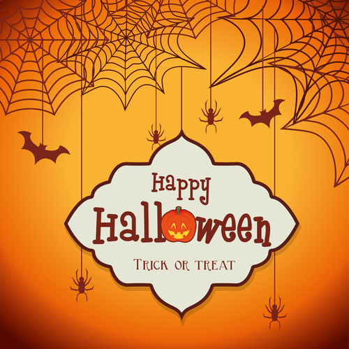 Spider web background halloween concept vector